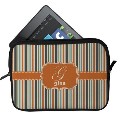Orange & Blue Stripes Tablet Case / Sleeve (Personalized)