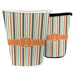 Orange & Blue Stripes Waste Basket (Personalized)