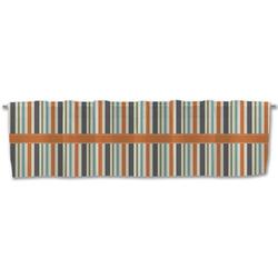 Orange & Blue Stripes Valance (Personalized)