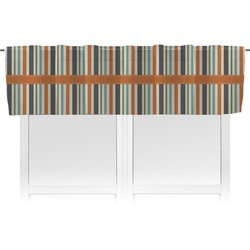 Orange & Blue Stripes Valance (Personalized)