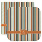 Orange & Blue Stripes Facecloth / Wash Cloth (Personalized)