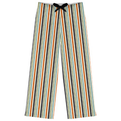 Orange & Blue Stripes Womens Pajama Pants (Personalized)