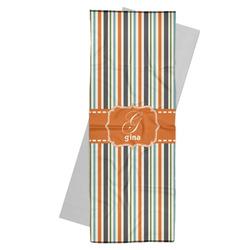 Orange & Blue Stripes Yoga Mat Towel (Personalized)