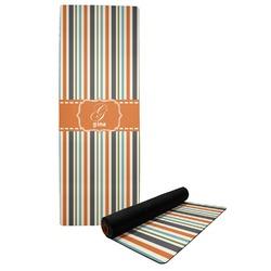 Orange & Blue Stripes Yoga Mat (Personalized)