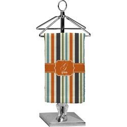 Orange & Blue Stripes Finger Tip Towel - Full Print (Personalized)