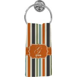 Orange & Blue Stripes Hand Towel - Full Print (Personalized)
