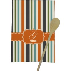 Orange & Blue Stripes Kitchen Towel - Full Print (Personalized)