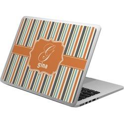 Orange & Blue Stripes Laptop Skin - Custom Sized (Personalized)