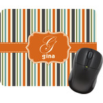 Orange & Blue Stripes Mouse Pads (Personalized)