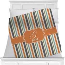 Orange & Blue Stripes Blanket (Personalized)