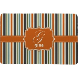 Orange & Blue Stripes Comfort Mat (Personalized)