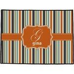 Orange & Blue Stripes Door Mat (Personalized)