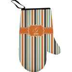 Orange & Blue Stripes Oven Mitt (Personalized)