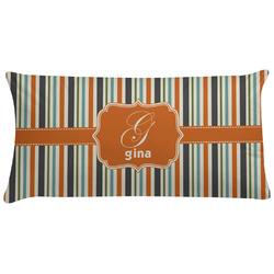 Orange & Blue Stripes Pillow Case (Personalized)