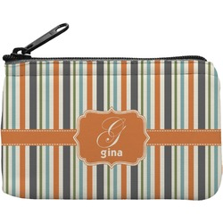 Orange & Blue Stripes Rectangular Coin Purse (Personalized)