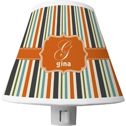 Orange & Blue Stripes Shade Night Light (Personalized)