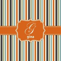 Orange & Blue Stripes