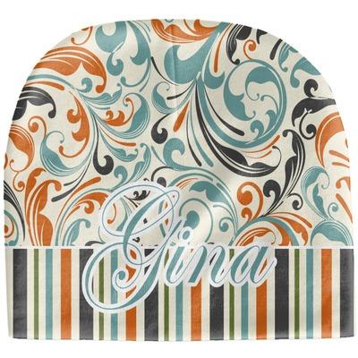 Orange Blue Swirls & Stripes Baby Hat (Beanie) (Personalized)