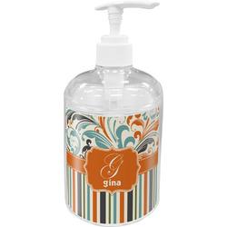 Orange Blue Swirls & Stripes Soap / Lotion Dispenser (Personalized)