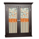 Orange Blue Swirls & Stripes Cabinet Decal - Custom Size (Personalized)
