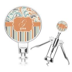 Orange Blue Swirls & Stripes Corkscrew (Personalized)
