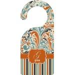 Orange Blue Swirls & Stripes Door Hanger (Personalized)