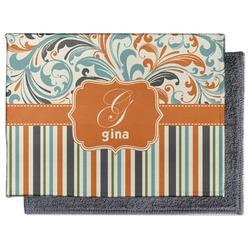 Orange Blue Swirls & Stripes Microfiber Screen Cleaner (Personalized)