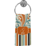 Orange Blue Swirls & Stripes Hand Towel - Full Print (Personalized)