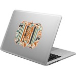 Orange Blue Swirls & Stripes Laptop Decal (Personalized)