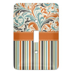Orange Blue Swirls & Stripes Light Switch Covers - Multiple Toggle Options Available (Personalized)