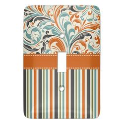 Orange Blue Swirls & Stripes Light Switch Covers (Personalized)