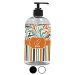 Orange Blue Swirls & Stripes Plastic Soap / Lotion Dispenser (Personalized)
