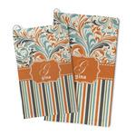 Orange Blue Swirls & Stripes Microfiber Golf Towel (Personalized)