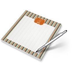 Orange Blue Swirls & Stripes Notepad (Personalized)