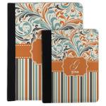 Orange Blue Swirls & Stripes Padfolio Clipboard (Personalized)