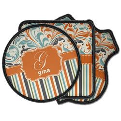 Orange Blue Swirls & Stripes Iron on Patches (Personalized)