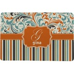 Orange Blue Swirls & Stripes Comfort Mat (Personalized)