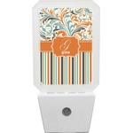 Orange Blue Swirls & Stripes Night Light (Personalized)