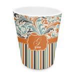 Orange Blue Swirls & Stripes Plastic Tumbler 6oz (Personalized)