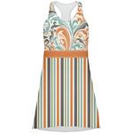 Orange Blue Swirls & Stripes Racerback Dress (Personalized)