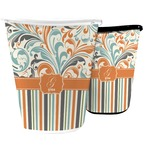 Orange Blue Swirls & Stripes Waste Basket (Personalized)