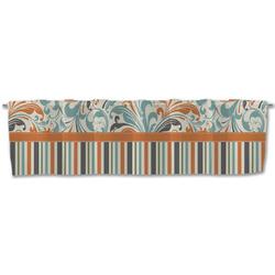 Orange Blue Swirls & Stripes Valance (Personalized)