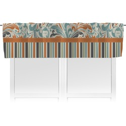 Orange Blue Swirls & Stripes Valance (Personalized)