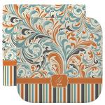 Orange Blue Swirls & Stripes Facecloth / Wash Cloth (Personalized)