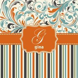 Orange Blue Swirls & Stripes