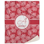 Coral Sherpa Throw Blanket (Personalized)