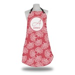 Coral Apron w/ Name and Initial