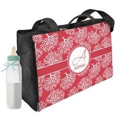 Coral Diaper Bag w/ Name and Initial