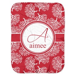 Coral Baby Swaddling Blanket (Personalized)