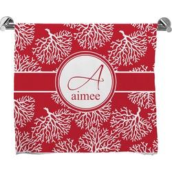 Coral Full Print Bath Towel (Personalized)